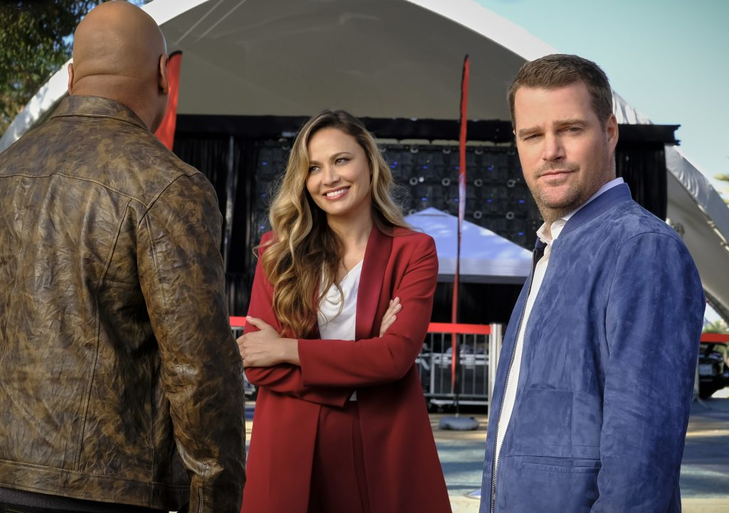 LL Cool J, Moon Bloodgood, and Chris O'Donnell | Trae Patton/CBS via Getty Images