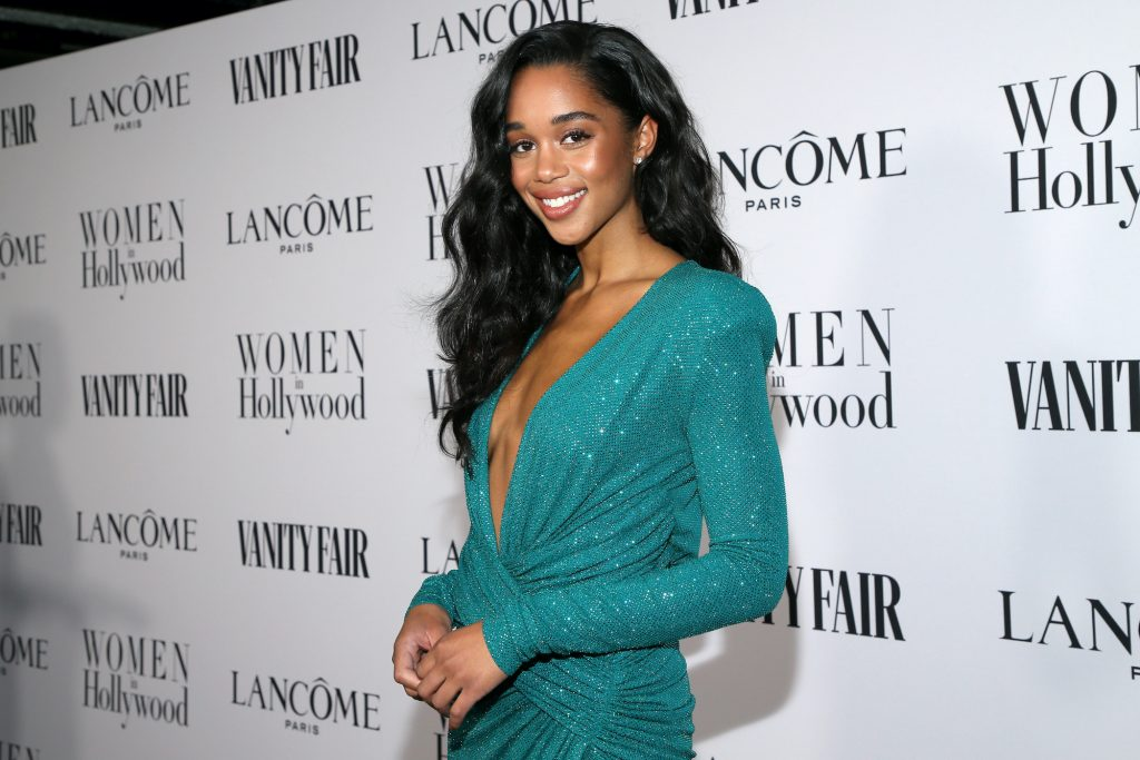 Laura Harrier attends Vanity Fair and Lancôme Toast Women in Hollywood