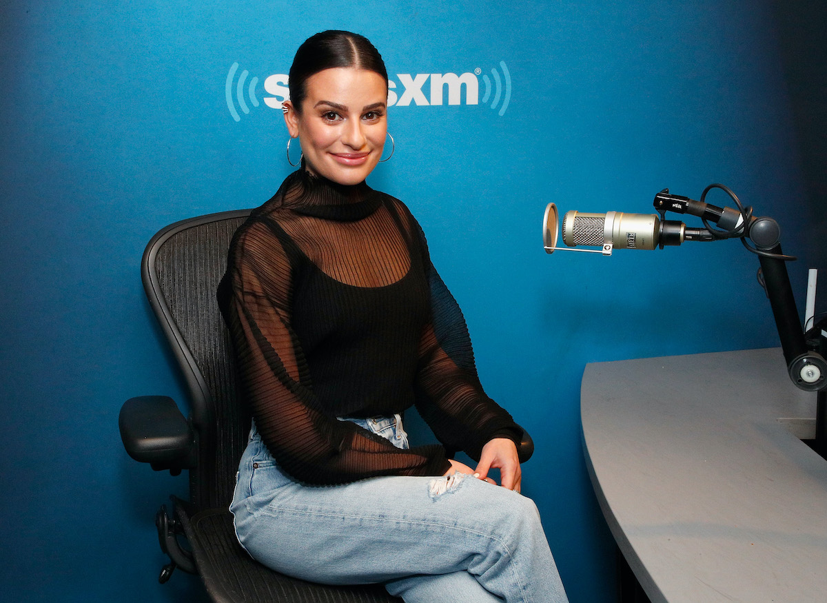 Lea Michele visits the SiriusXM Studios