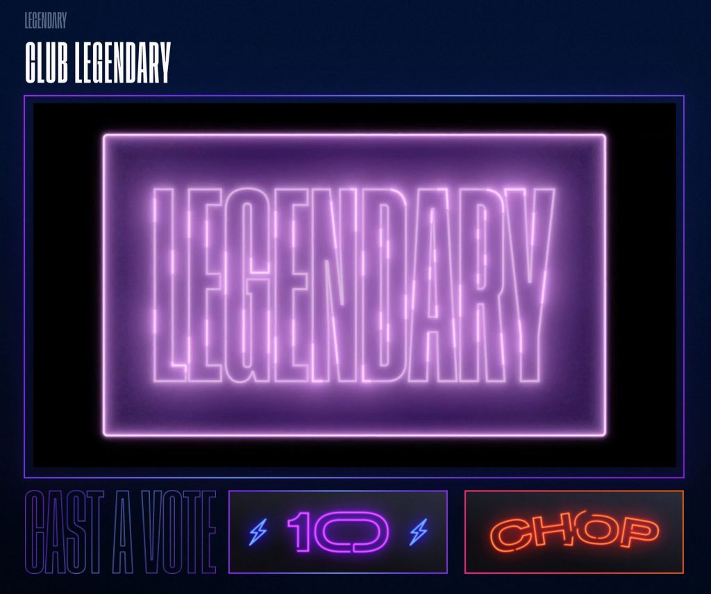 """In this screengrab, signage is displayed during the Virtual Premiere of HBO MAX's """"Legendary"""" after party"""
