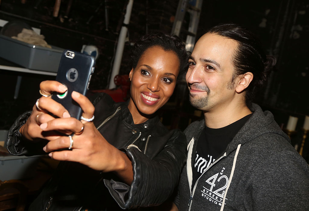 Kerry Washington and Lin-Manuel Miranda