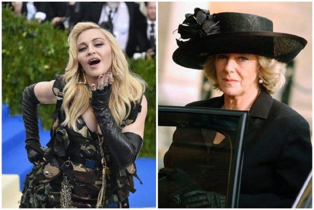 (L): Madonna, (R): Camilla Parker Bowles