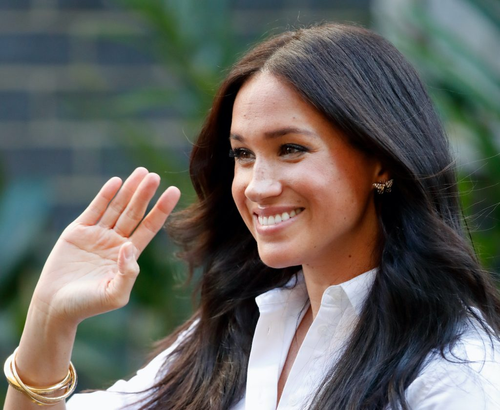 Meghan Markle at the launch of Smart Works capsule collection in 2019
