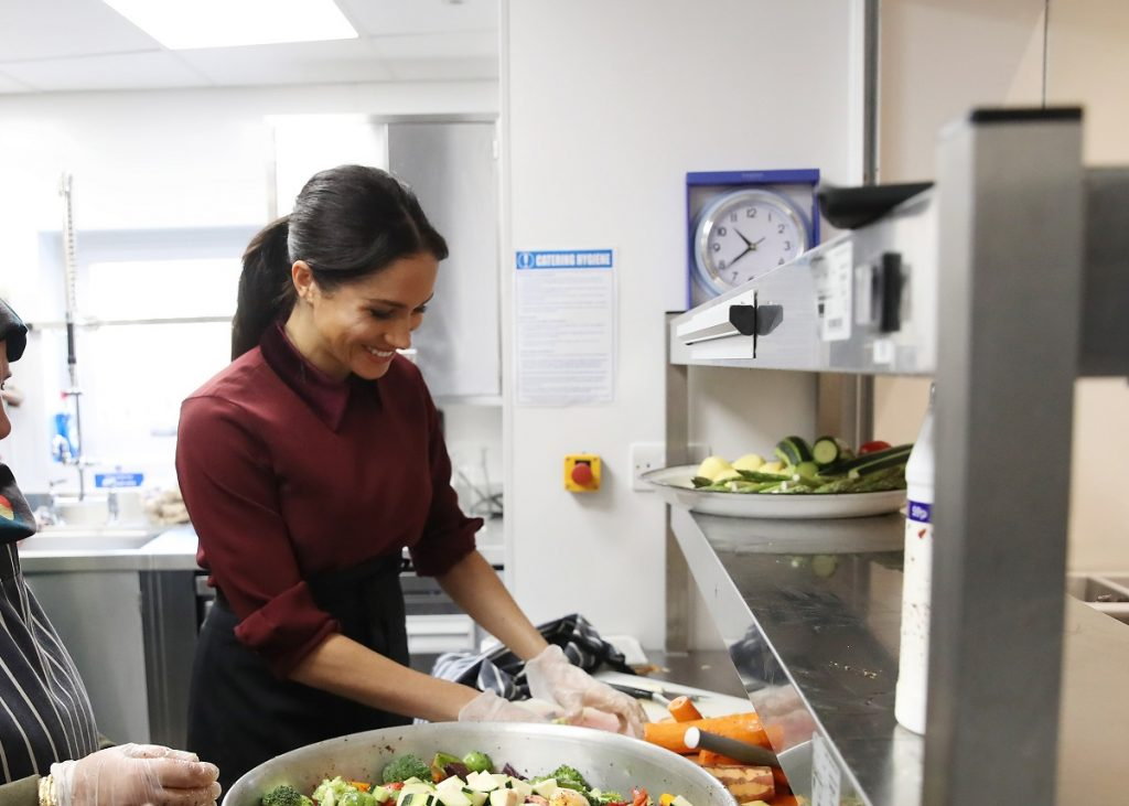 Meghan Markle cooking