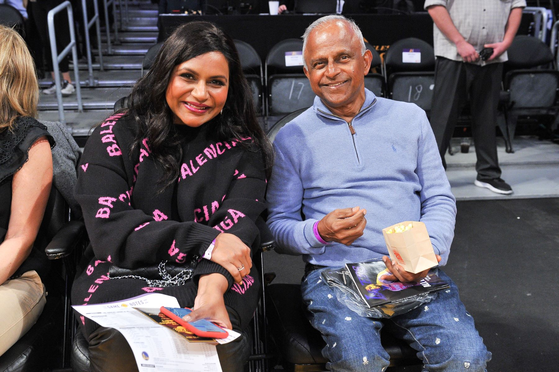 Mindy Kaling and her father
