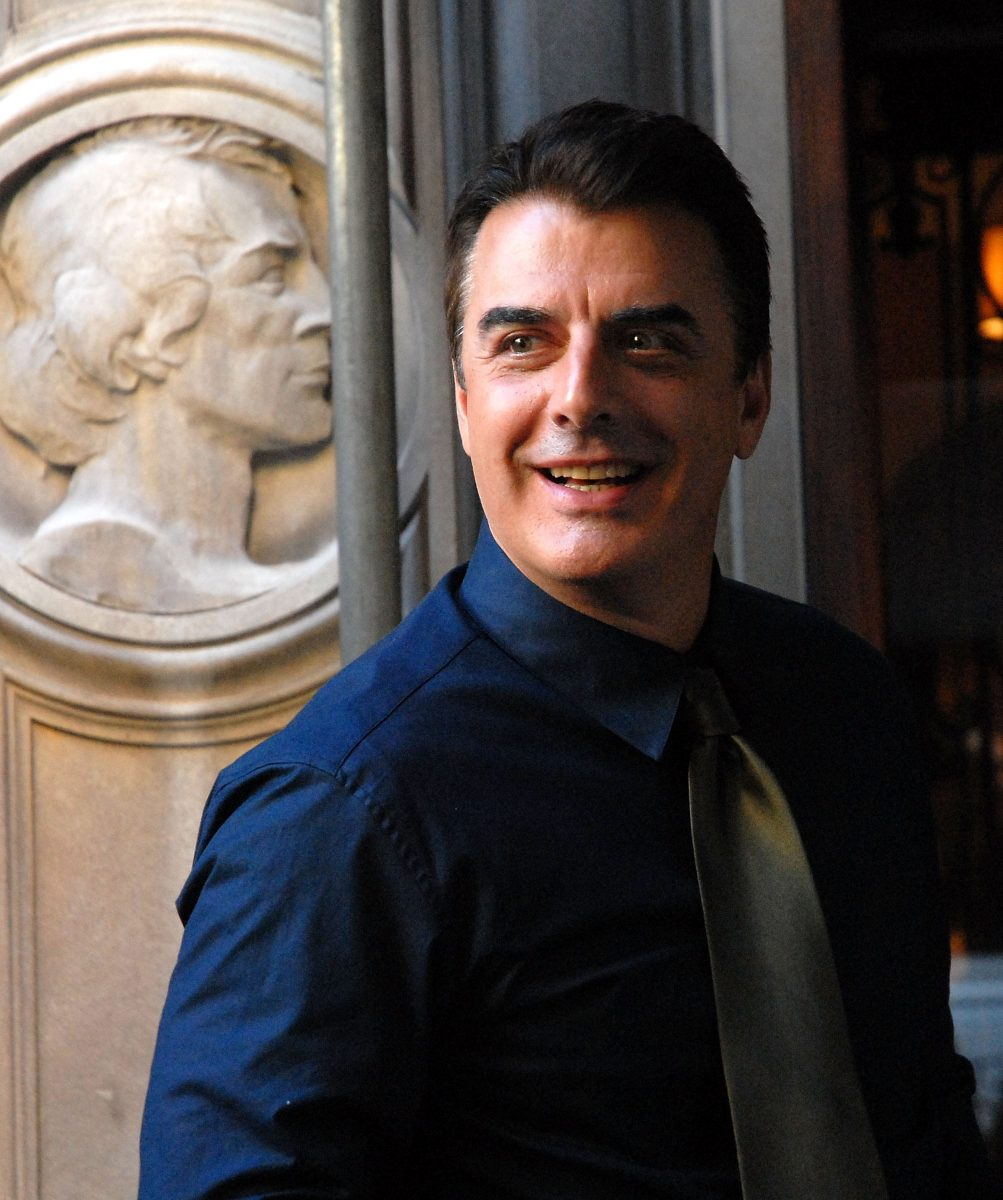 Chris Noth appears on location for 'Sex and the City'
