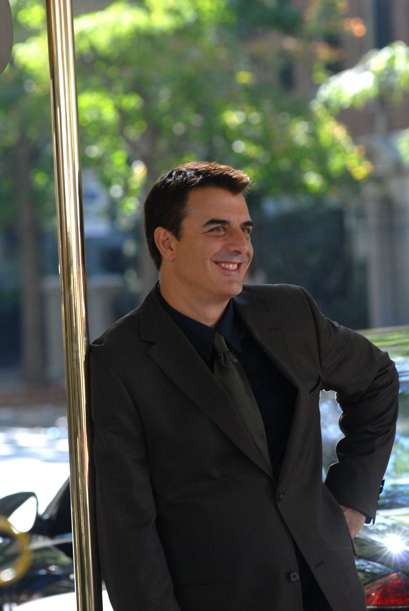 Chris Noth on location for 'Sex and the City'