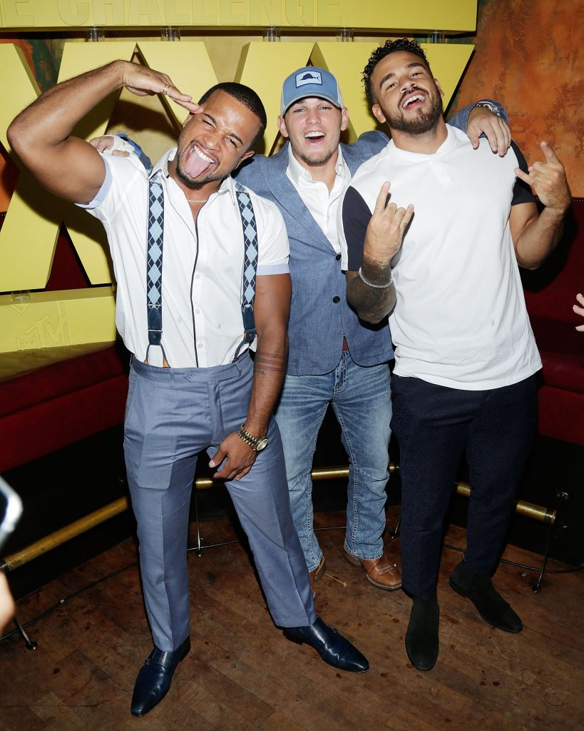 Nelson Thomas, Hunter Barfield and Cory Wharton attend The Challenge XXX: Ultimate Fan Experience Q & A and Reception