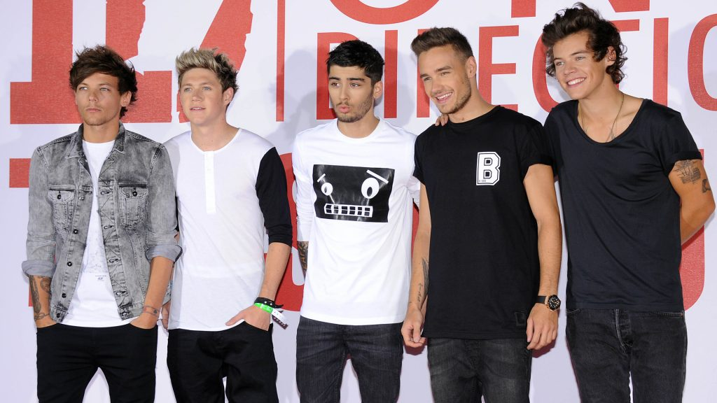 Louis Tamlinson, Zayn Malik, Niall Horan, Liam Payne and Harry Styles of One Direction attend a photocall to launch their new film 'one Direction: This Is Us 3D' on August 19, 2013 in London, England.
