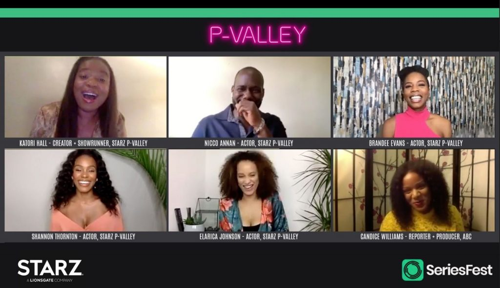 The 'P-Valley' cast in an interview | SeriesFest/Getty Images via Getty Images