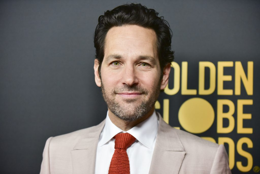 Paul Rudd poses for photographers at the HFPA and THR Golden Globe Ambassador Party in 2019