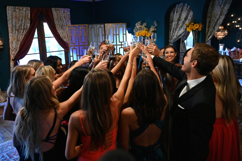 Peter Weber and the contestants on 'The Bachelor'