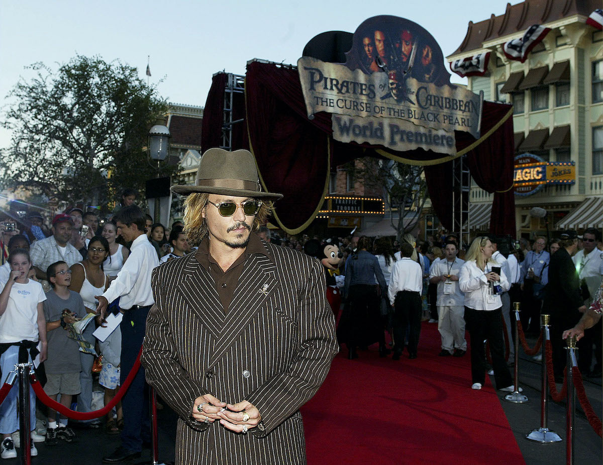 Johnny Depp at the 'Pirates of the Caribbean: The Curse of the Black Pearl' premiere