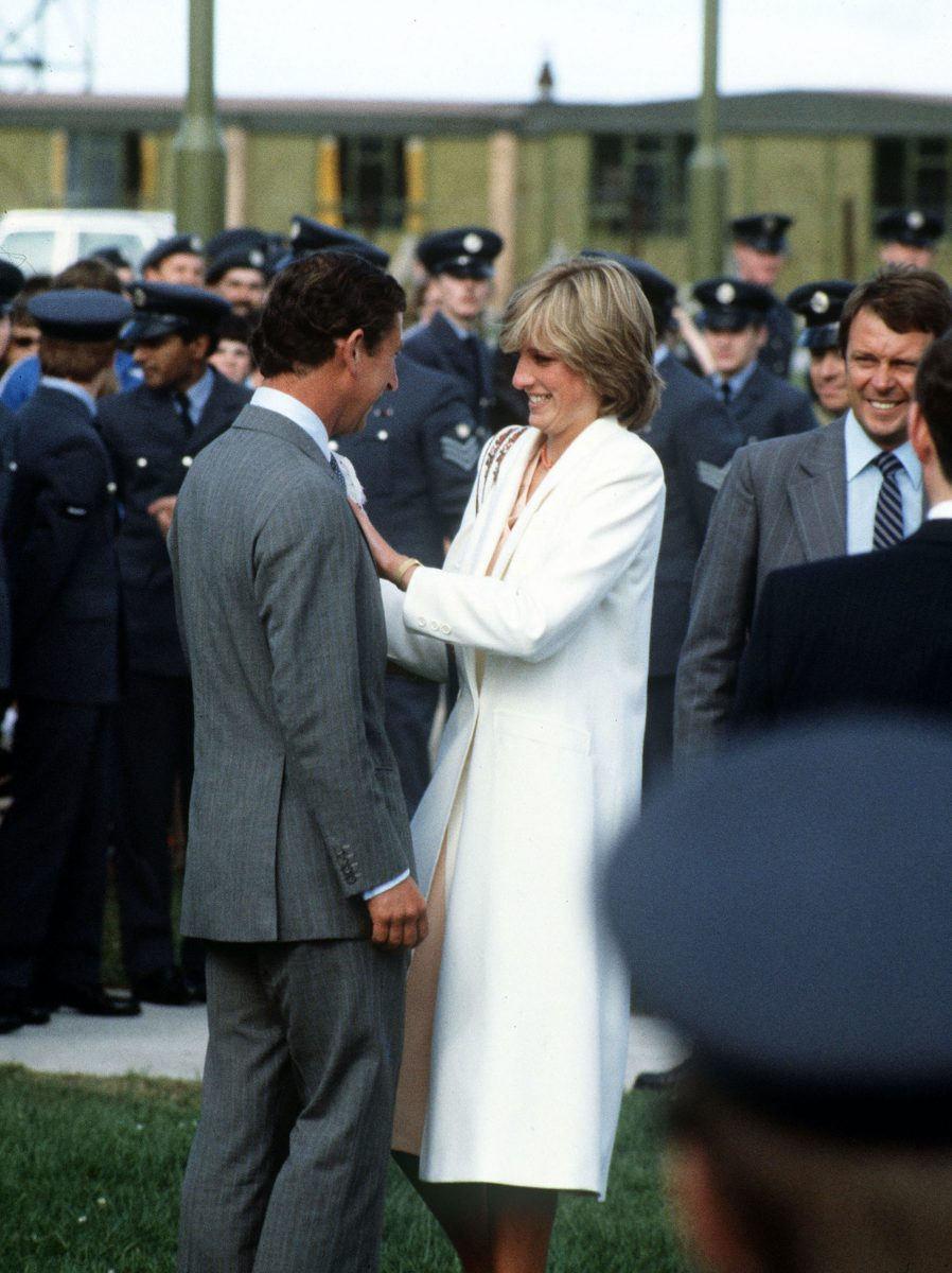 Prince Charles and Princess Diana in Scotland at the end of their honeymoon