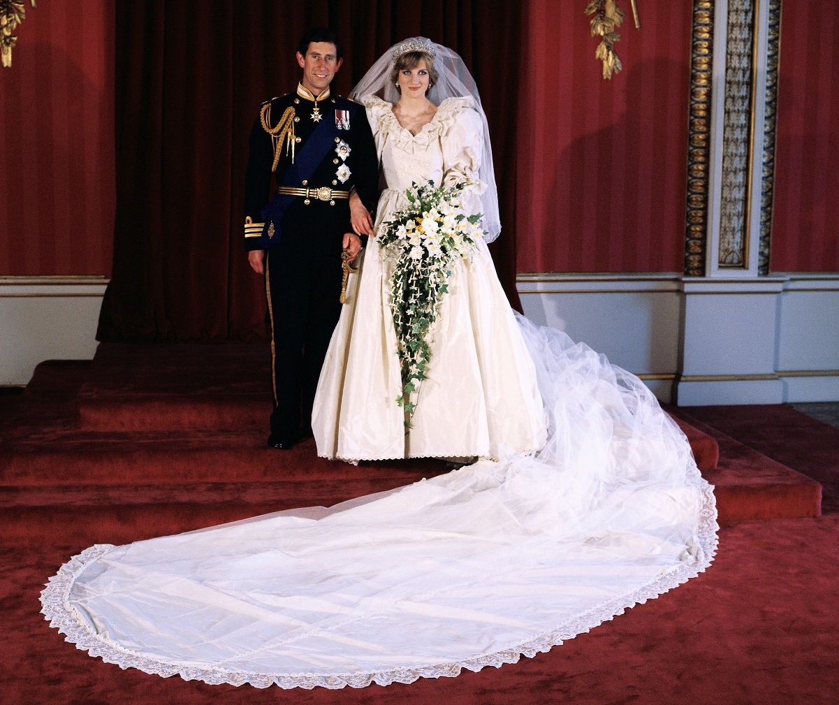 Prince Charles and Princess Diana wedding portrait