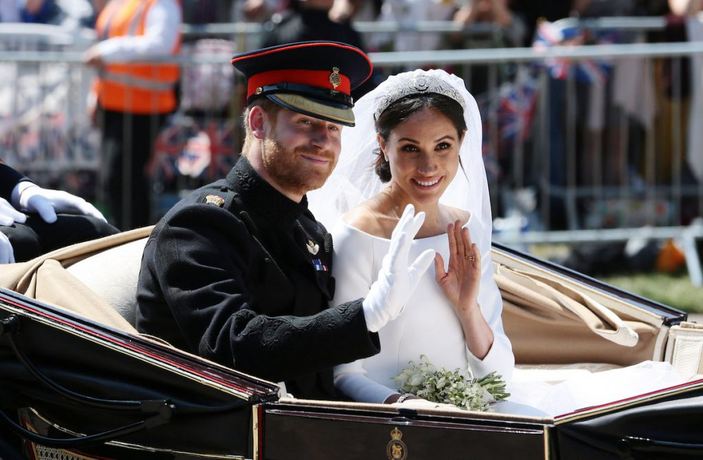 Harry and Meghan wed in 2018.