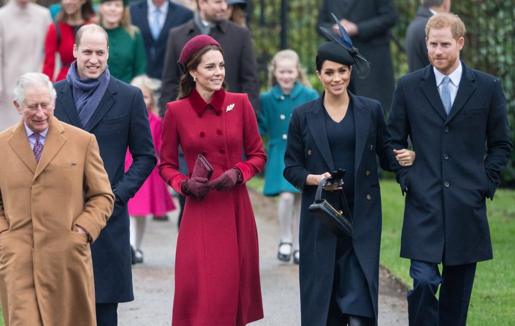 Prince Charles, Prince William, Kate Middleton, Meghan Markle, and Prince Harry