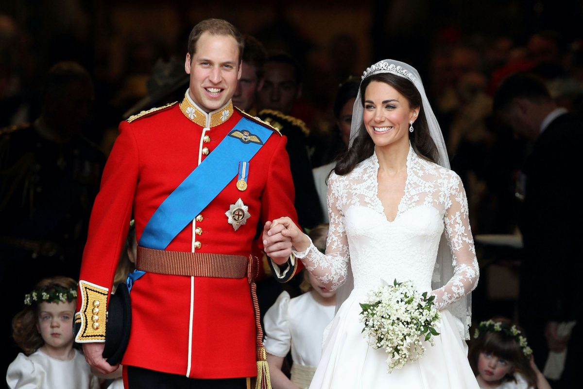 Prince William and Kate Middleton at their royal wedding