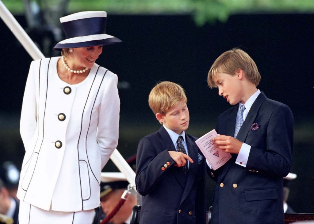 The Princess Of Wales And Princes William & Harry Attend The Vj Day 50Th Anniversary Celebrations In London