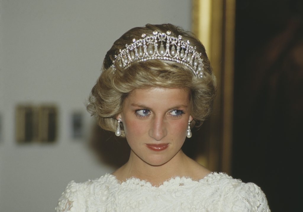 Princess Diana at the British embassy in Washington, D.C.