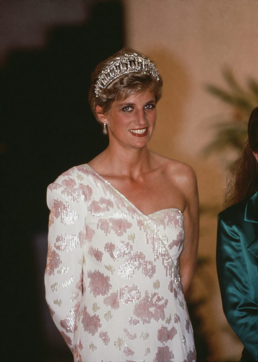 Princess Diana attends a banquet in Brazil