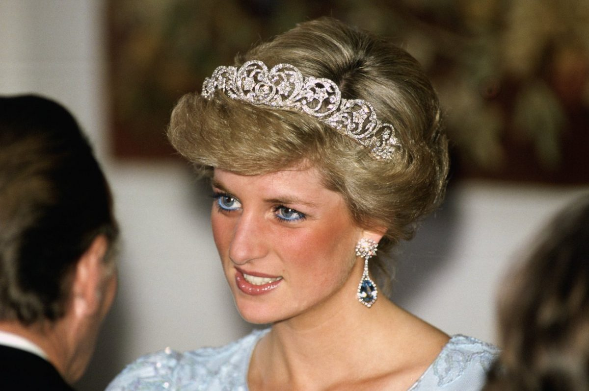 Princess Diana wears the Spencer Tiara during an event in Munich, Germany