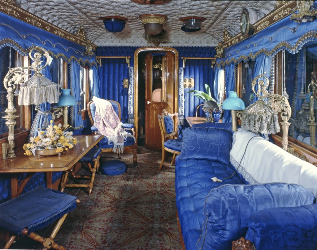 Queen Victoria's Saloon Carriage is now on display at the Railway Museum