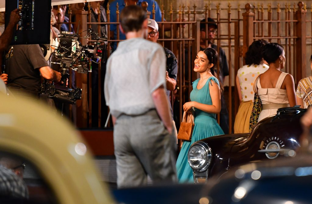 Rachel Zegler seen on location for 'West Side Story'