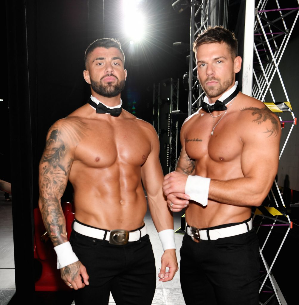 MTV's Rogan O'Connor and Joss Mooney  backstage at Chippendales