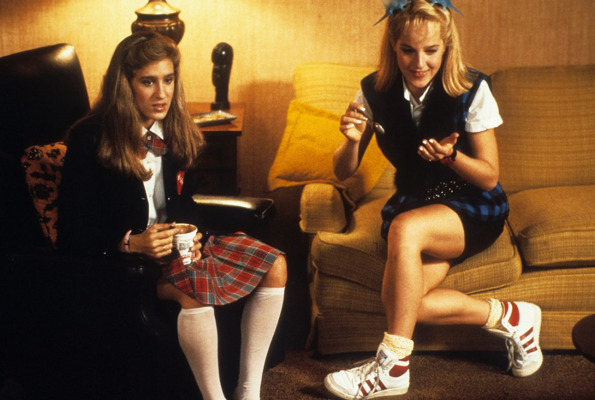 Sarah Jessica Parker and Helen Hunt in 'Girls Just Want to Have Fun'