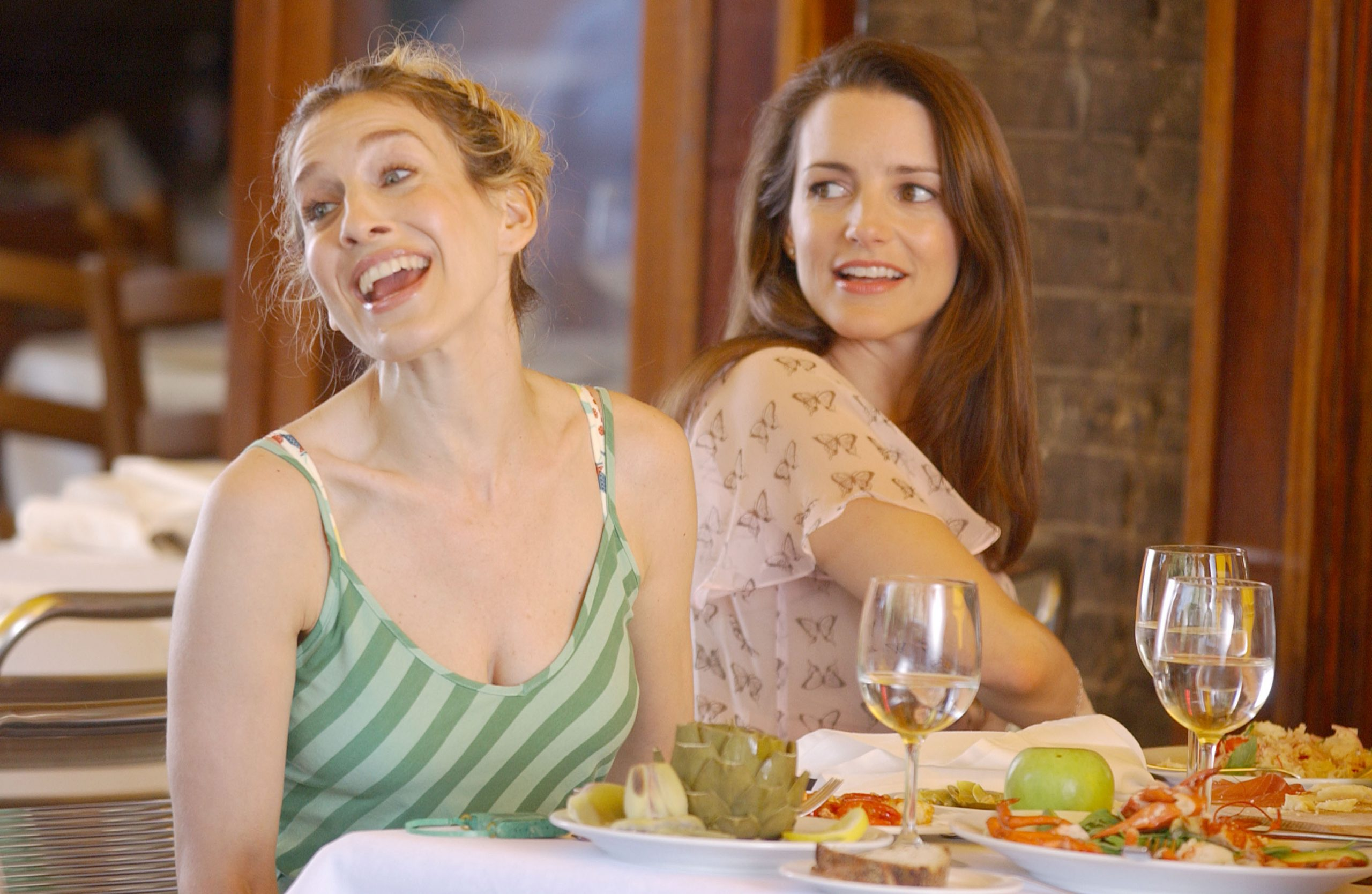 Sarah Jessica Parker and Kristin Davis