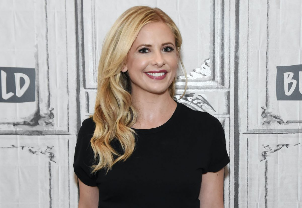 Sarah Michelle Gellar poses for photos at the 2018 Build Series