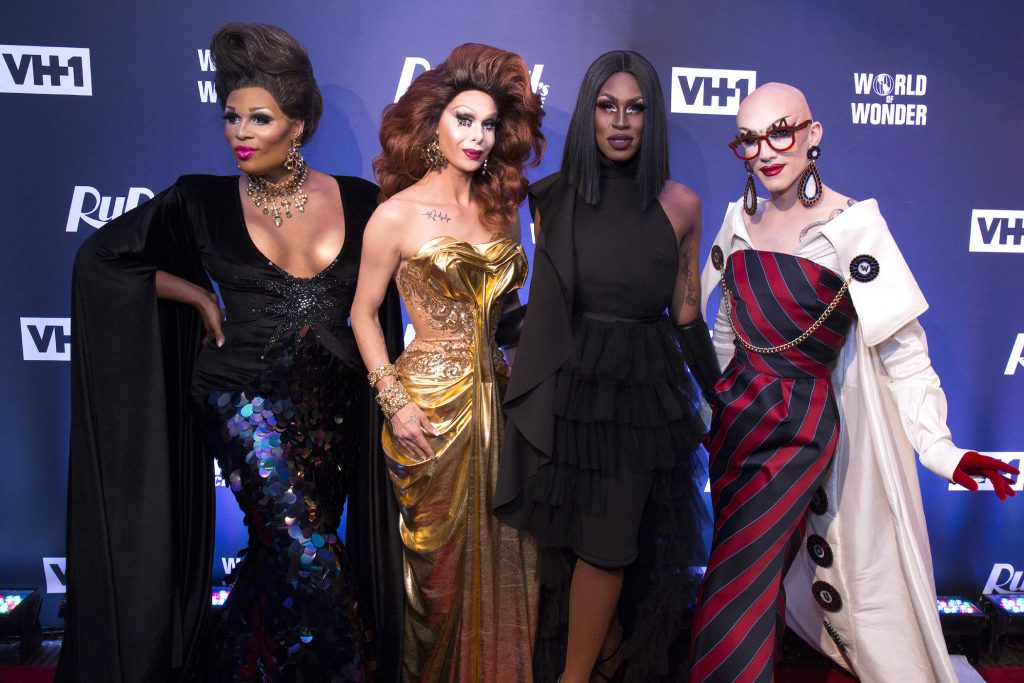 Peppermint, Trinity Taylor, Shea Couleé, and Sasha Velour attend the 'RuPaul's Drag Race' Season 9 Finale Viewing Party