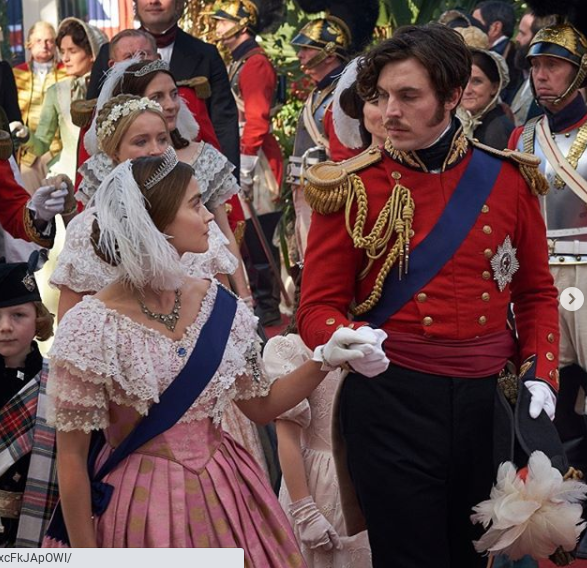 Jenna Coleman as Queen Victoria and Tom Hughes as Prince Albert in 'Victoria'
