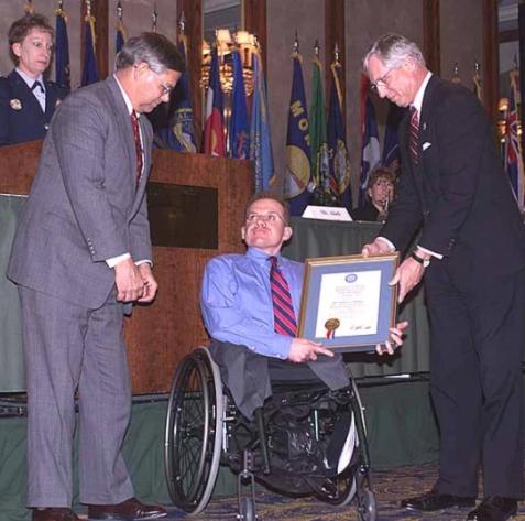 Regis Philbin's son, Daniel, receiving a reward for his 9/11 bravery