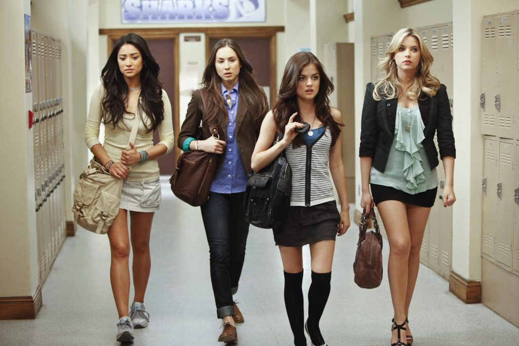 Pretty Little Liars cast membersShay Mitchell, Troian Bellisario, Lucy Hale, and Ashley Benson