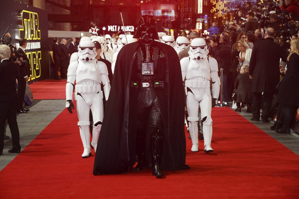 Darth Vader and Stormtroppers on the red carpet