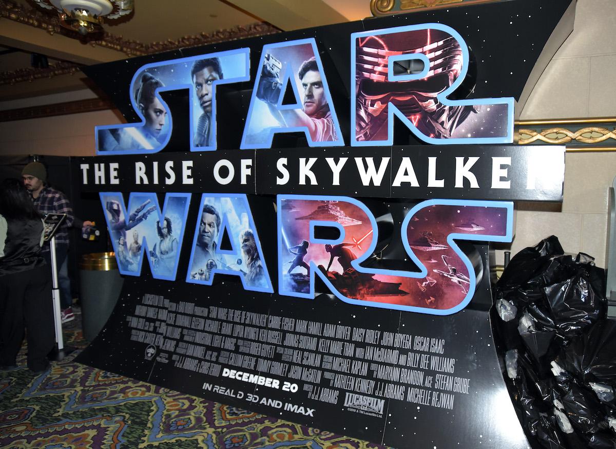 'Star Wars: The Rise Of Skywalker' sign