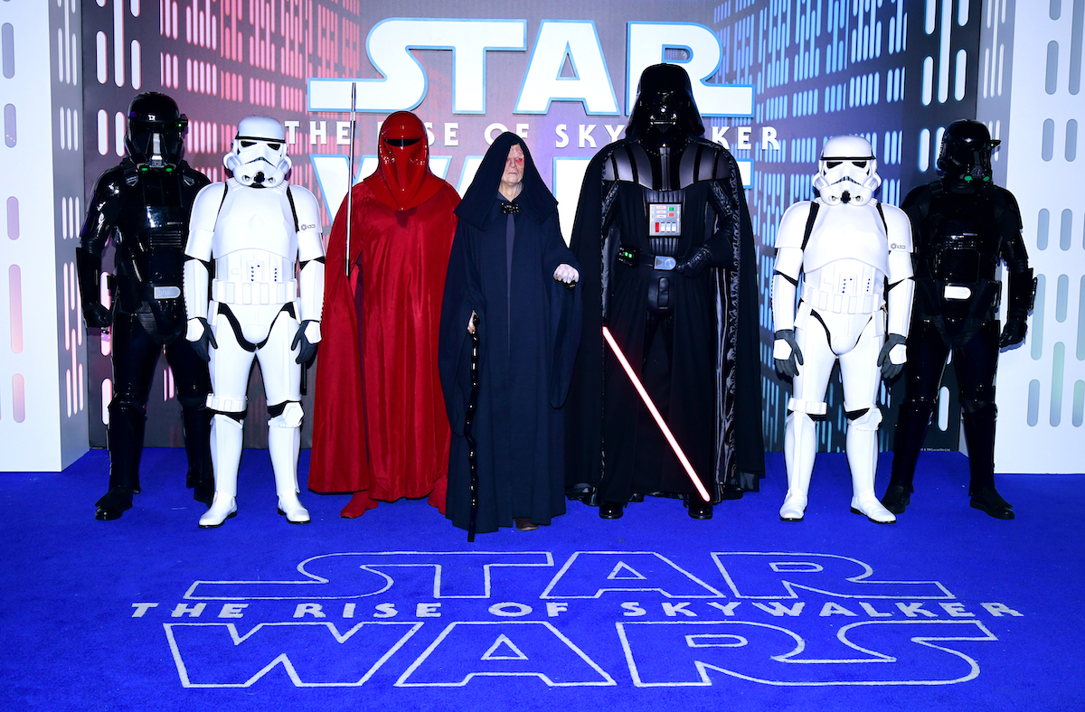 'Star Wars' characters at the 'Star Wars: The Rise of Skywalker' premiere