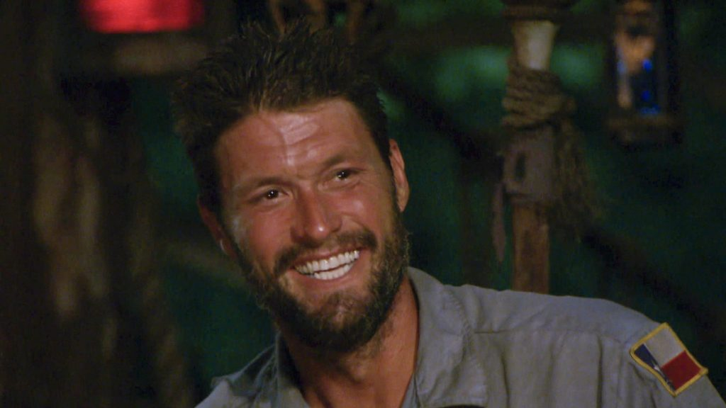 Mike Holloway at Tribal Council during the twelfth episode of 'Survivor'
