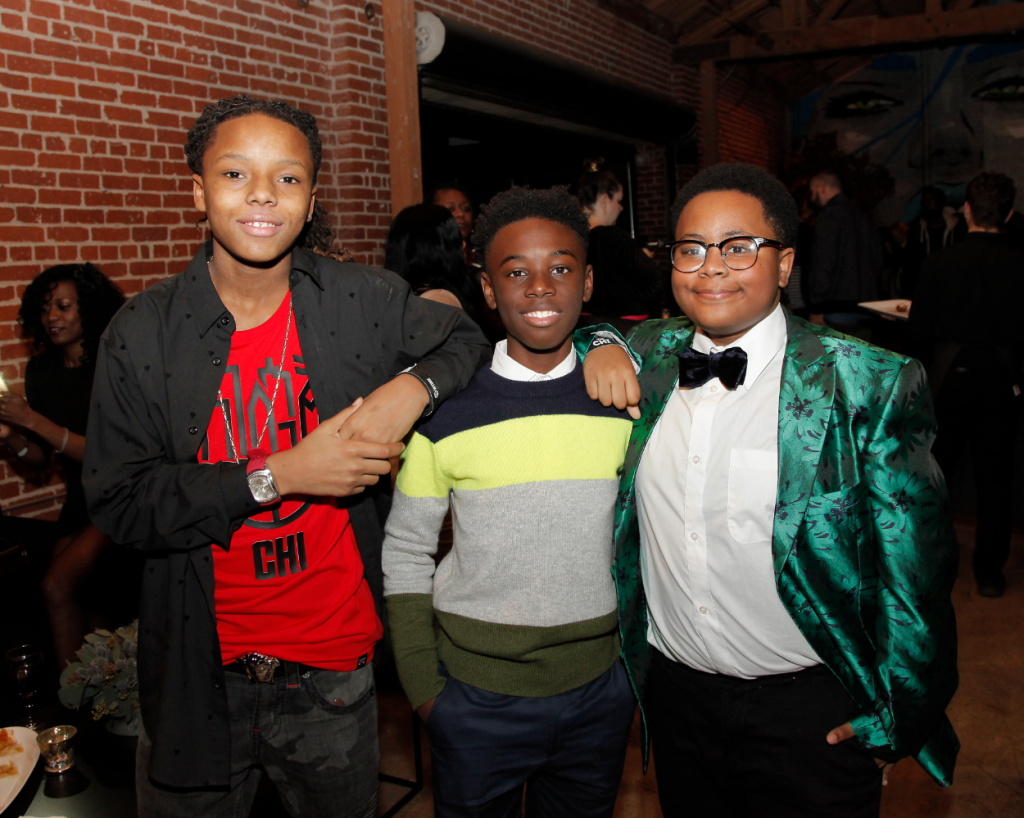 Michael Epps, Alex R. Hibbert and Shamon Brown Jr. attend the premiere of Showtime's 'The Chi' after party