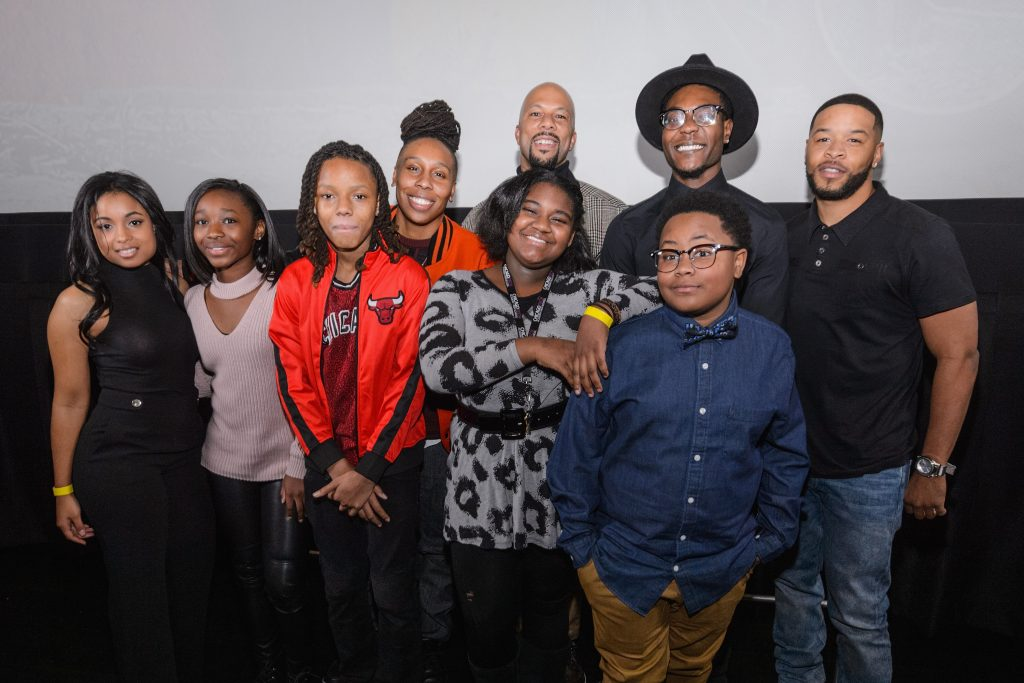 Cast members attends the Q&A during an advance screening of Showtime's 'The Chi'