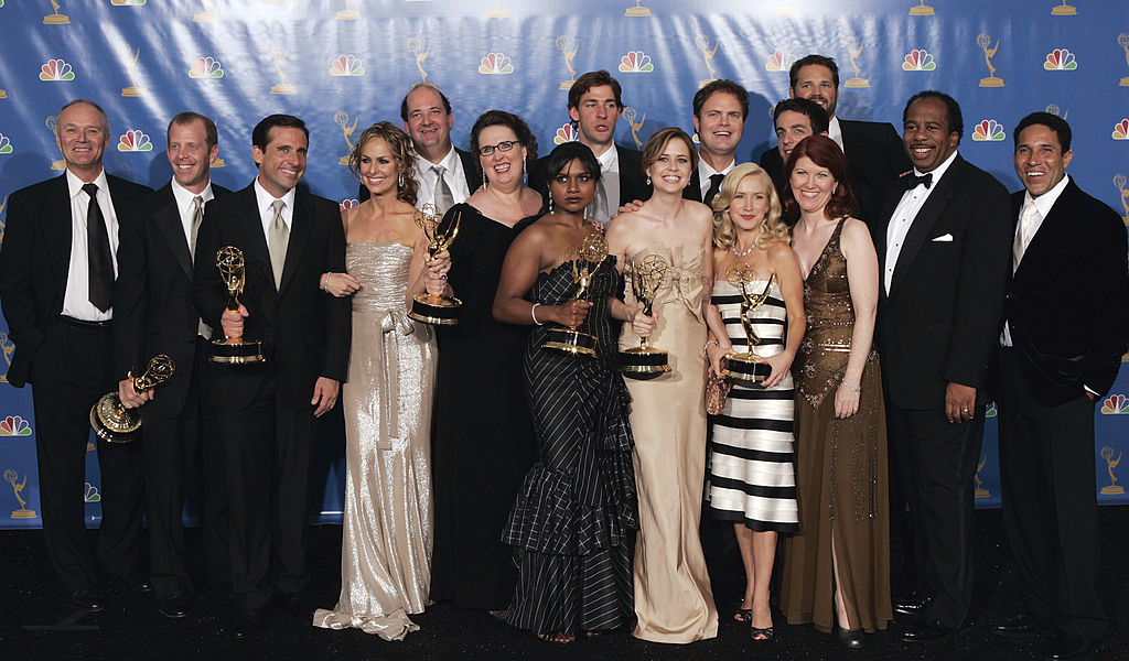 """Cast and Writers of """"The Office"""", winners of """"Outstanding Comedy Series"""" for """"The Office"""""""