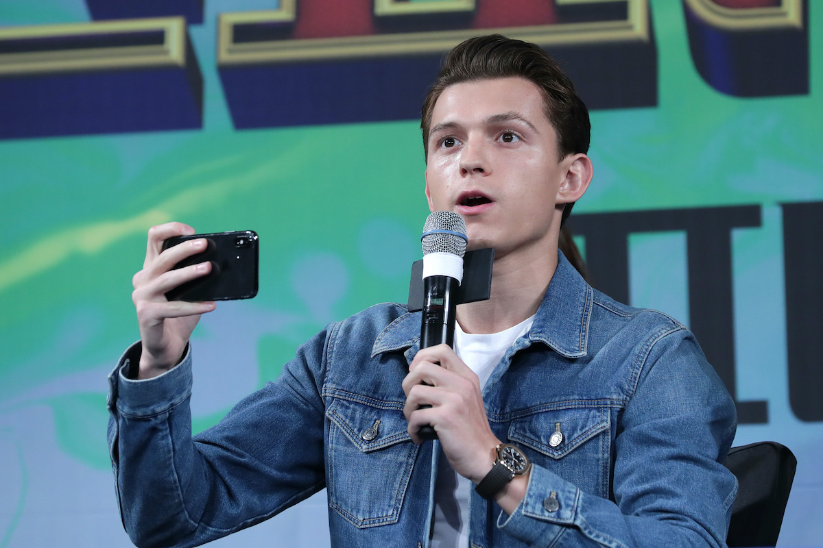 Tom Holland at a 'Spider-Man: Far From Home' press conference