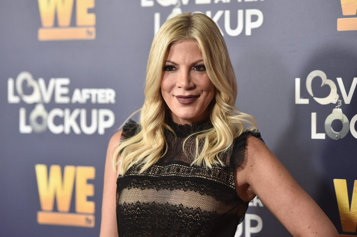 Tori Spelling Appears at a WE tv panel