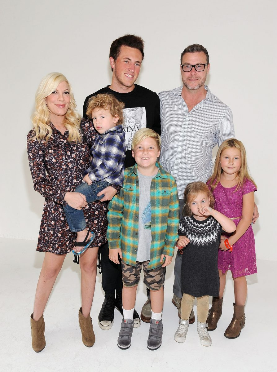 Tori Spelling and Dean McDermott with their children attend the Elizabeth Glaser Pediatric AIDS Foundation's 26th Annual A Time For Heroes Family Festival at Smashbox Studios