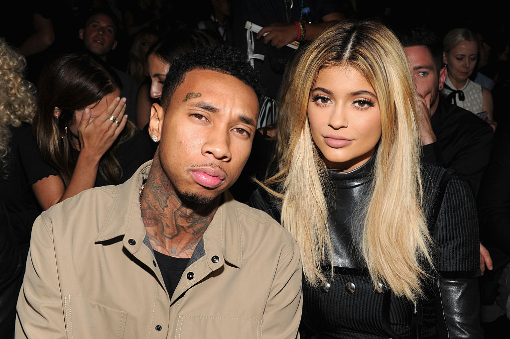 Tyga and Kylie Jenner at a fashion show