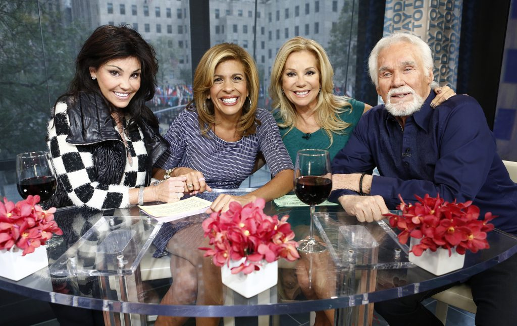 "Wanda Miller, Hoda Kotb, Kathie Lee Gifford and Kenny Rogers on the ""Today"" show 