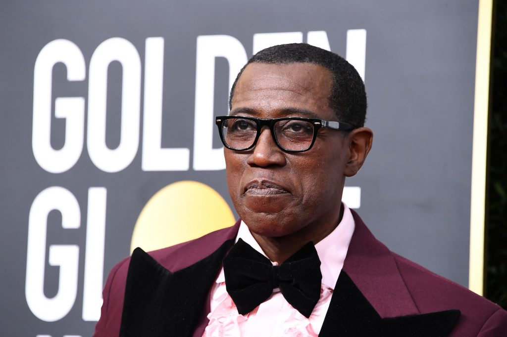 Wesley Snipes looking away from the camera, slightly smiling