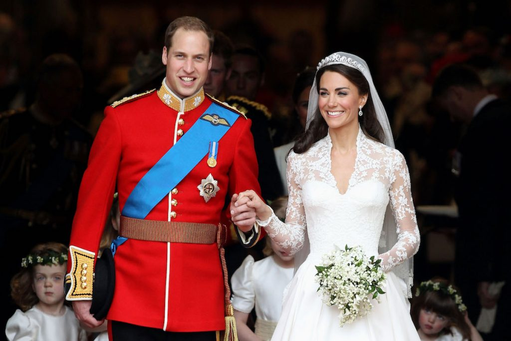 Prince William and Kate Middleton at their wedding.